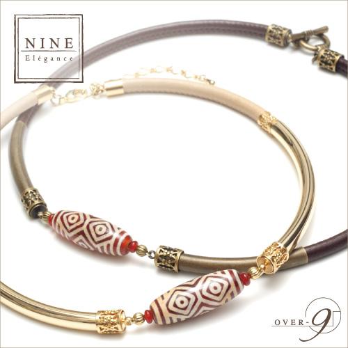 【-Oriental beauty- 王と呼ぶにふさわしい優雅さと豊かさ 紅玉髄 龍眼天珠レザーチョーカー】