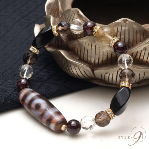【〜未来を見据える〜The third eye bracelet ◆紅朱砂三眼天珠ブレスレット◆】【メール便不可】