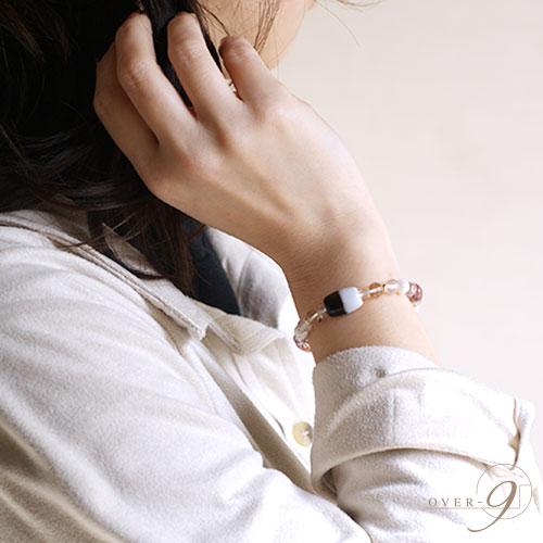 【Espoir 〜希望〜 『朱砂 黒白天珠』】【メール便不可】エスポワール