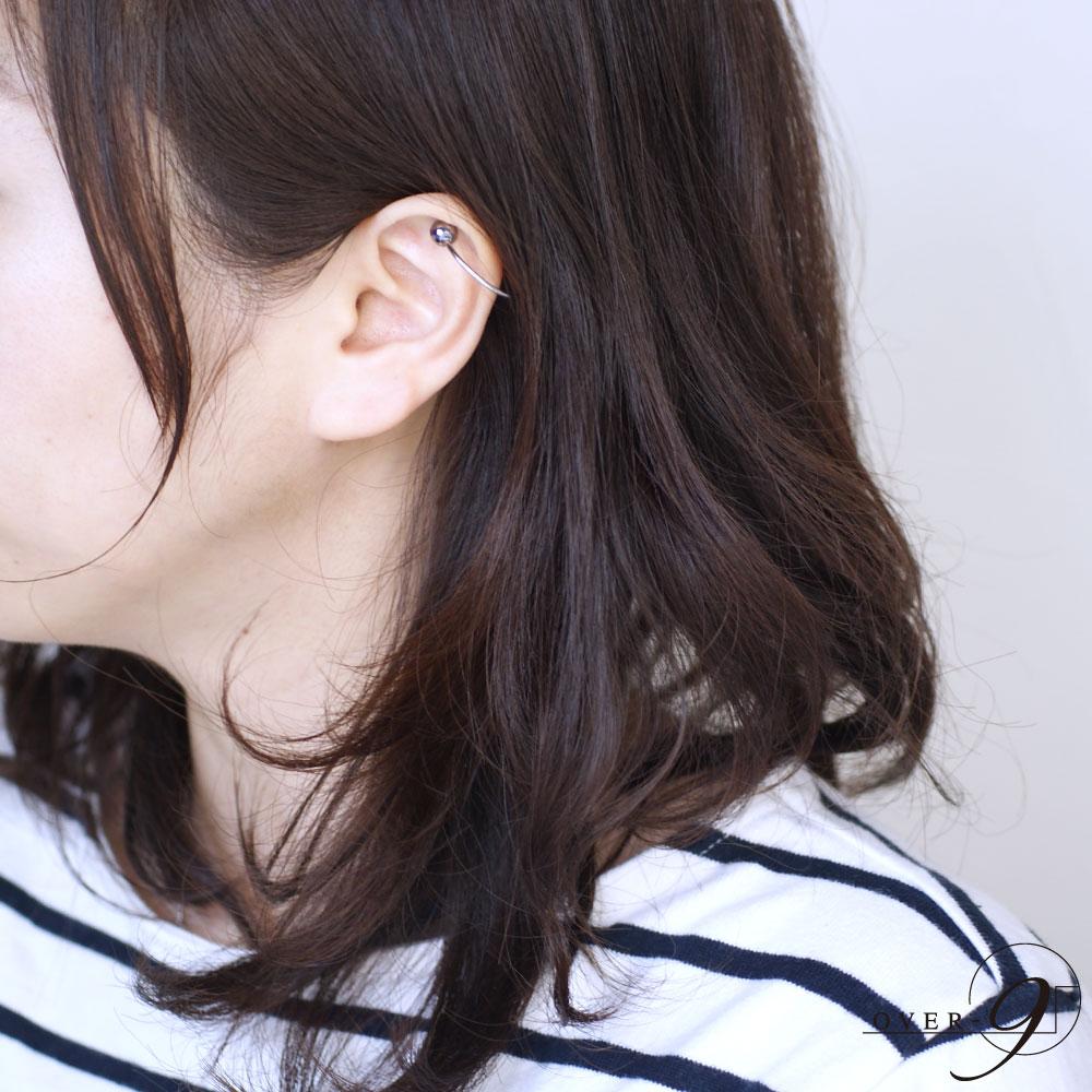 テラヘルツ イヤーカフ (8mm、6mm) ピアス 2個ワンセット/ 両耳用 【メール便可】