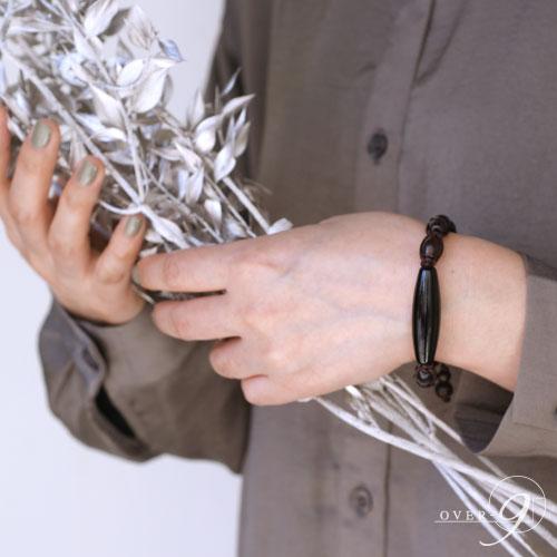 【セミオーダーブレスレット 『 CROCODILE 』 NO*9 老礦石珠(たる型)10mm×8mm】 【メール便不可】 クロコダイル