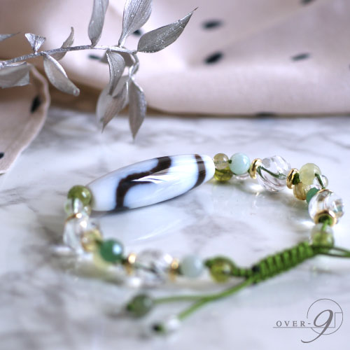 【coffret a bijoux 〜宝石箱〜 4A至純天珠 白 蛇天珠】【メール便不可】 コフレタビジュー