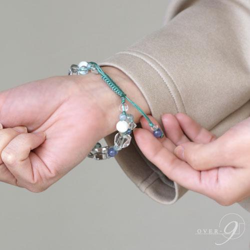 【coffret a bijoux 〜宝石箱〜 黒朱砂 白藍天珠 双心金剛杵天珠】【メール便不可】 コフレタビジュー