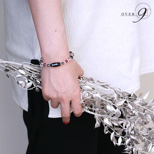Enchanted -魅惑- 黒朱砂 如意観音天珠ブレスレット【メール便不可】