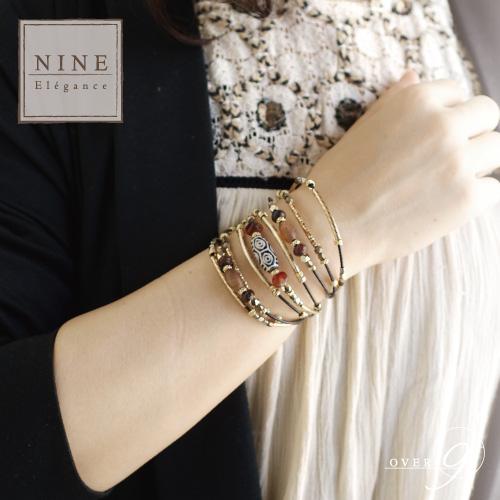 -SUNSHINE-2020 JAPAN 希望の未来を引き寄せる 黒竜紋龍眼天珠 レザーブレスレット【メール便不可】NINE-Elegance-