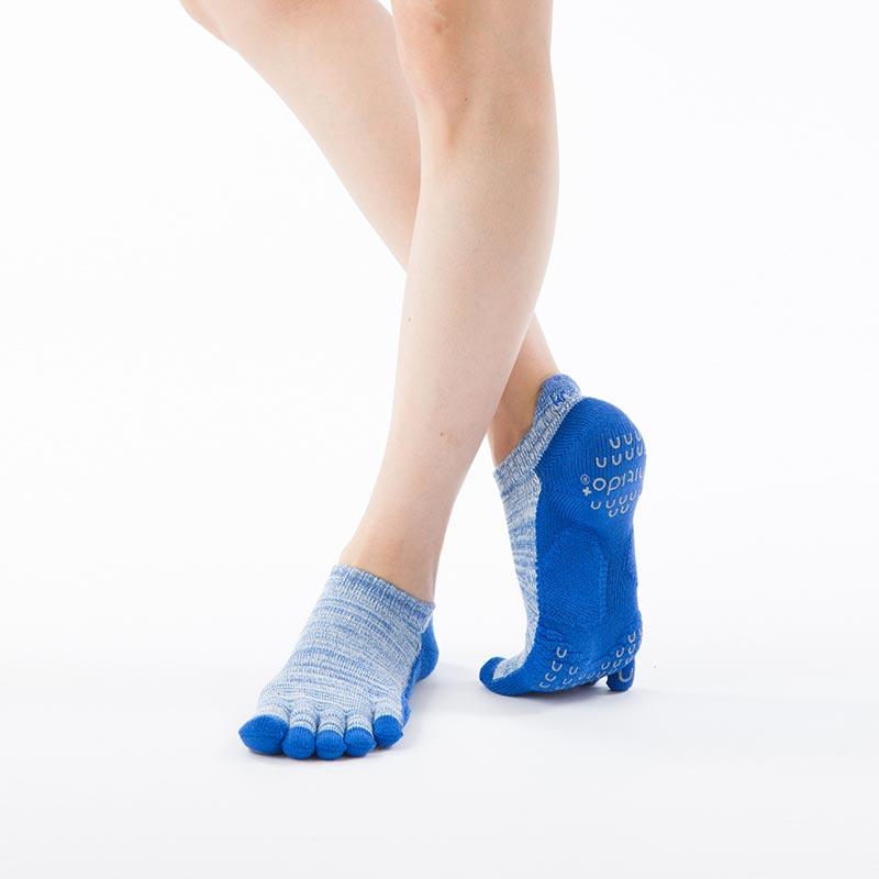 Foot arch マーブルツートン   アンクル   5本指ソックス 23-25cm