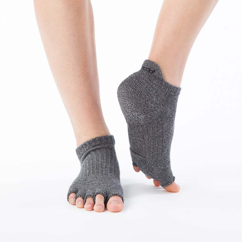 Foot arch 撚杢カラー   アンクル指無し (Support Type)   5本指ソックス 25-27cm