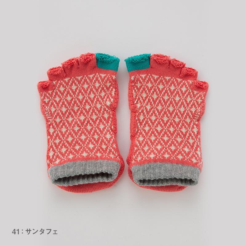 Foot arch バイヤスダイヤ   アンクル指無し   5本指ソックス