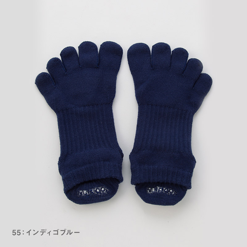 Foot arch COLOR アンクル(Support Type) 5本指ソックス 21-23cm