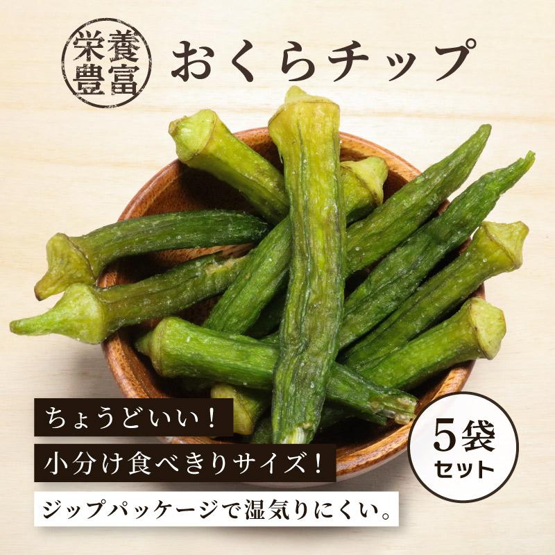 【区分A無料】おくらチップ 90g×5袋セット 野菜チップ ドライフルーツ【ポイント2倍】