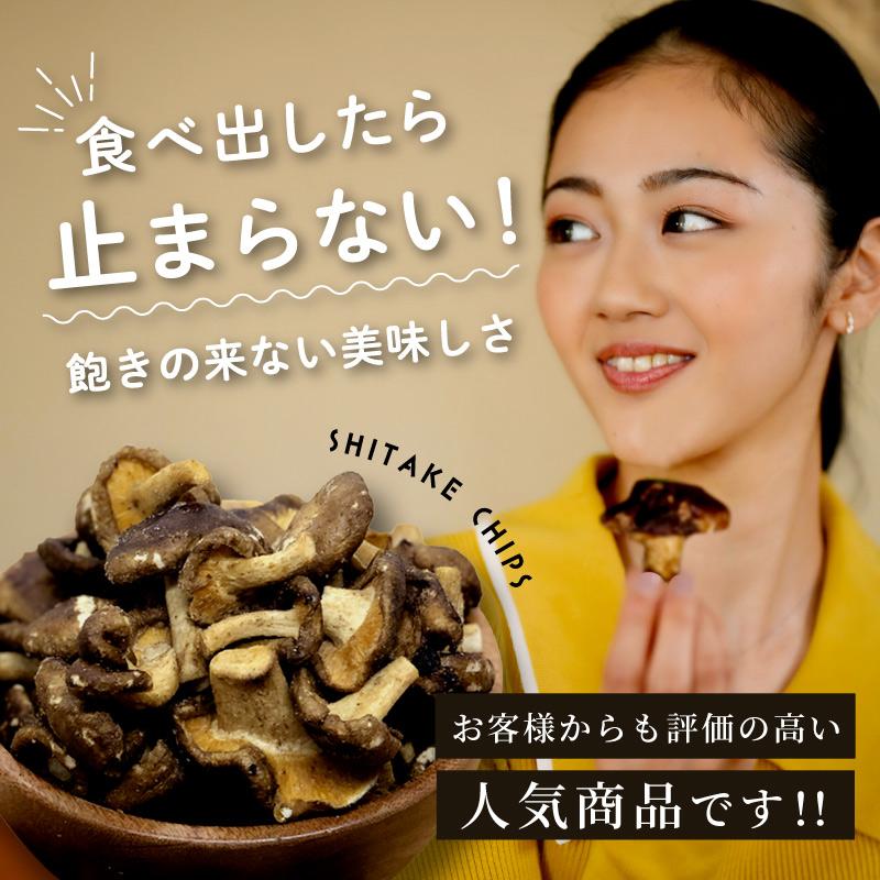 【区分A無料】しいたけチップ 100g×3袋セット 野菜チップ ドライフルーツ