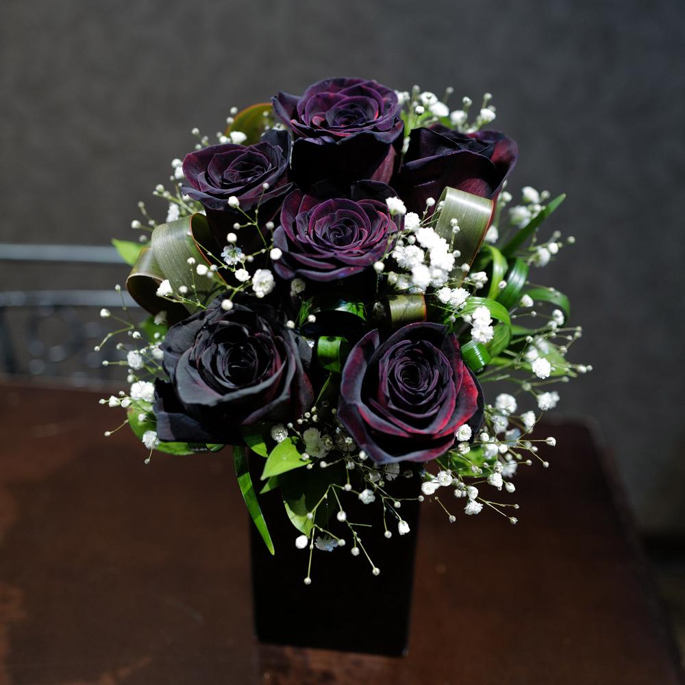 黒薔薇のミニアレンジ