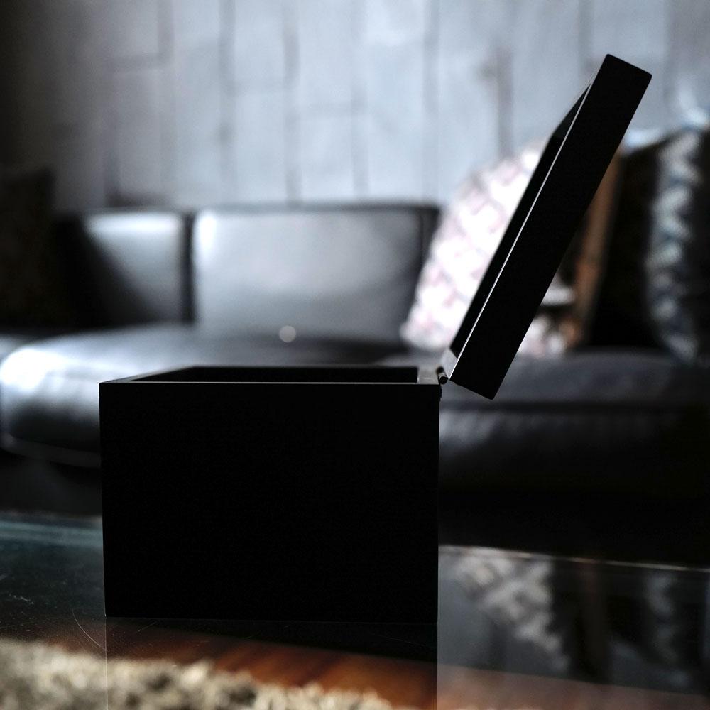 レインボーローズ1輪 プリザーブドフラワー BLACK CUBE BOX