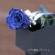 青いバラ プリザーブドフラワー 縦長BOXギフト