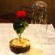 赤い薔薇 プリザーブドフラワー 電飾LEDガラスドーム Tall