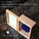 青いバラ プリザーブドフラワー フォトフレーム (縦 Lサイズ)