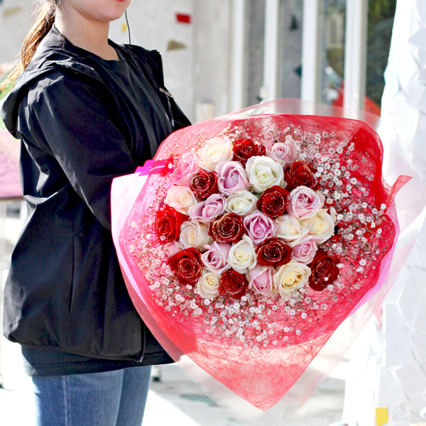 完全おまかせ!スペシャルミックス30本の花束