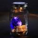 LEDライト付き 青いバラ プリザーブドフラワー ライティングメイソンジャー