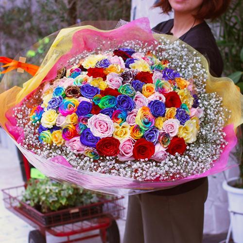 完全おまかせ!スペシャルミックス100本の花束