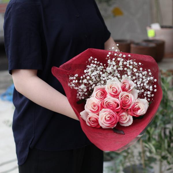 レインボーローズジャパン 10本の花束
