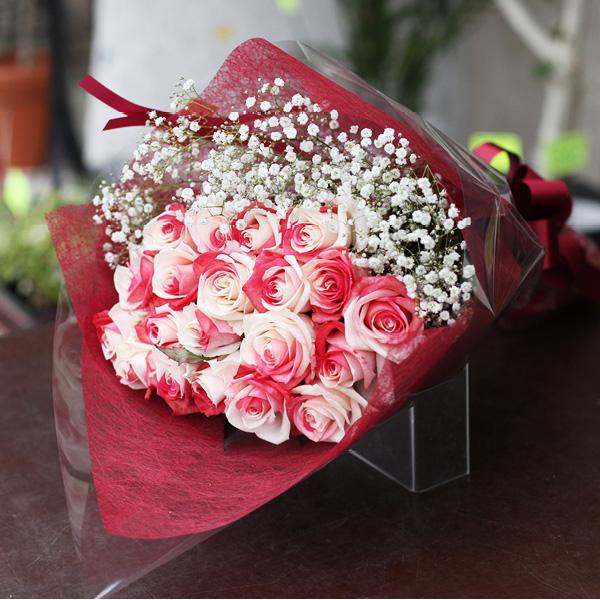 レインボーローズジャパン 20本の花束