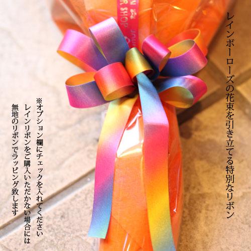 レインボーカーネーション10本の花束(キラキラかすみ草付)