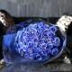 キラキラ青いバラ 50本の花束