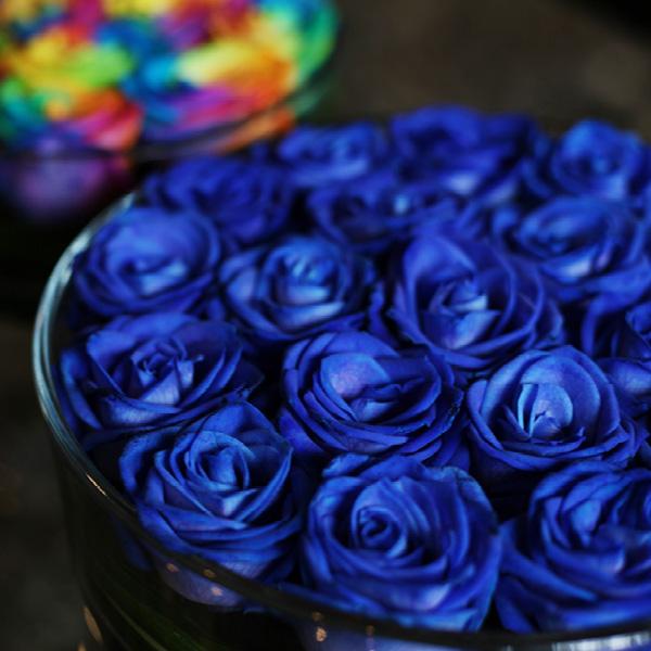 青いバラ circleglass アレンジメント(L)