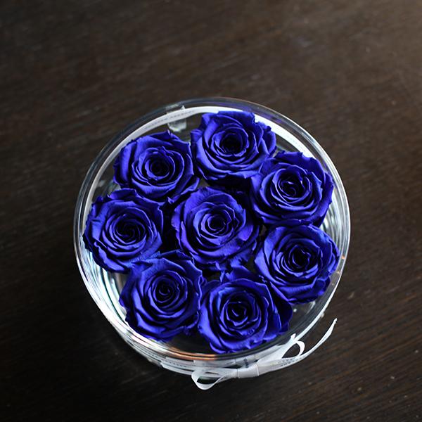 青いバラ プリザーブドフラワー ブリリアント(M)