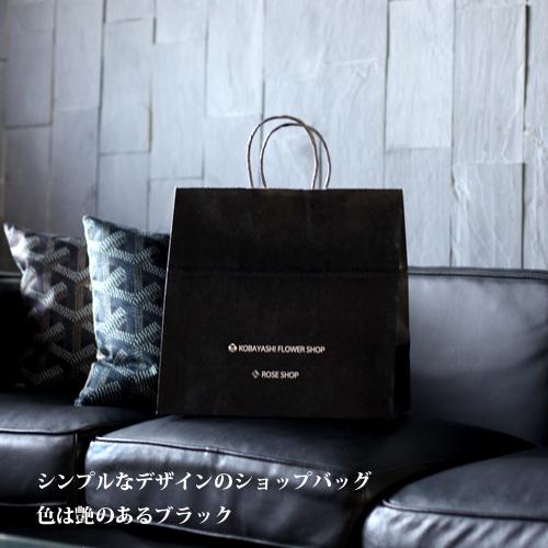 シルバーローズ プリザーブドフラワー ミニメッセージ黒BOX