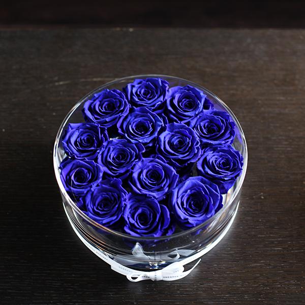 青いバラ プリザーブドフラワー ブリリアント(L)