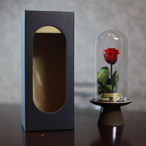赤い薔薇 プリザーブドフラワー ガラスドーム