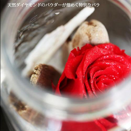 赤いバラ プリザーブドフラワー メイソンジャーフラワー