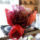 プリザーブドフラワー 赤薔薇5本とかすみ草の花束