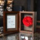 薔薇 プリザーブドフラワー フォトフレーム(縦 Lサイズ)