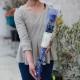 キラキラ青いバラ1本ラッピング