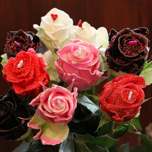 チョコレートローズ 100本の花束