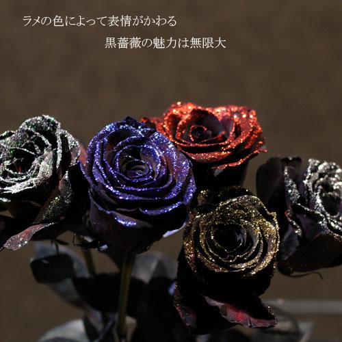 黒薔薇 20本の花束