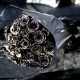 黒薔薇ゴールドラメ 20本の花束