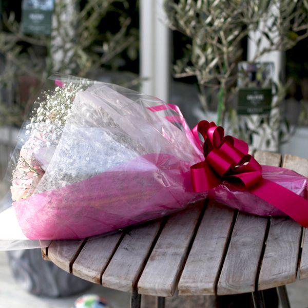 キラキラピンクローズ 20本の花束