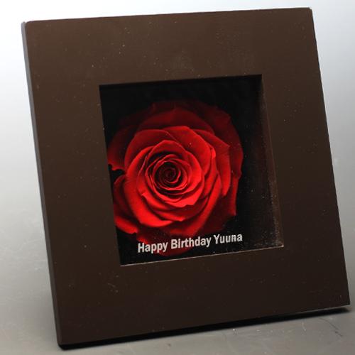薔薇 プリザーブドフラワー メッセージフレーム