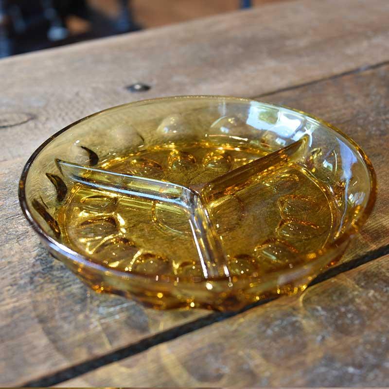 アンバーカラーのヴィンテージガラストレイ