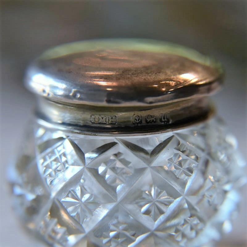 イギリス アンティークのインクウェル(インクボトル) silver925
