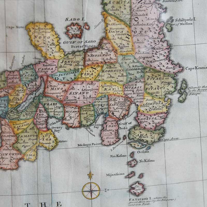Eman Bowen. Antique Map Japan ※額付き