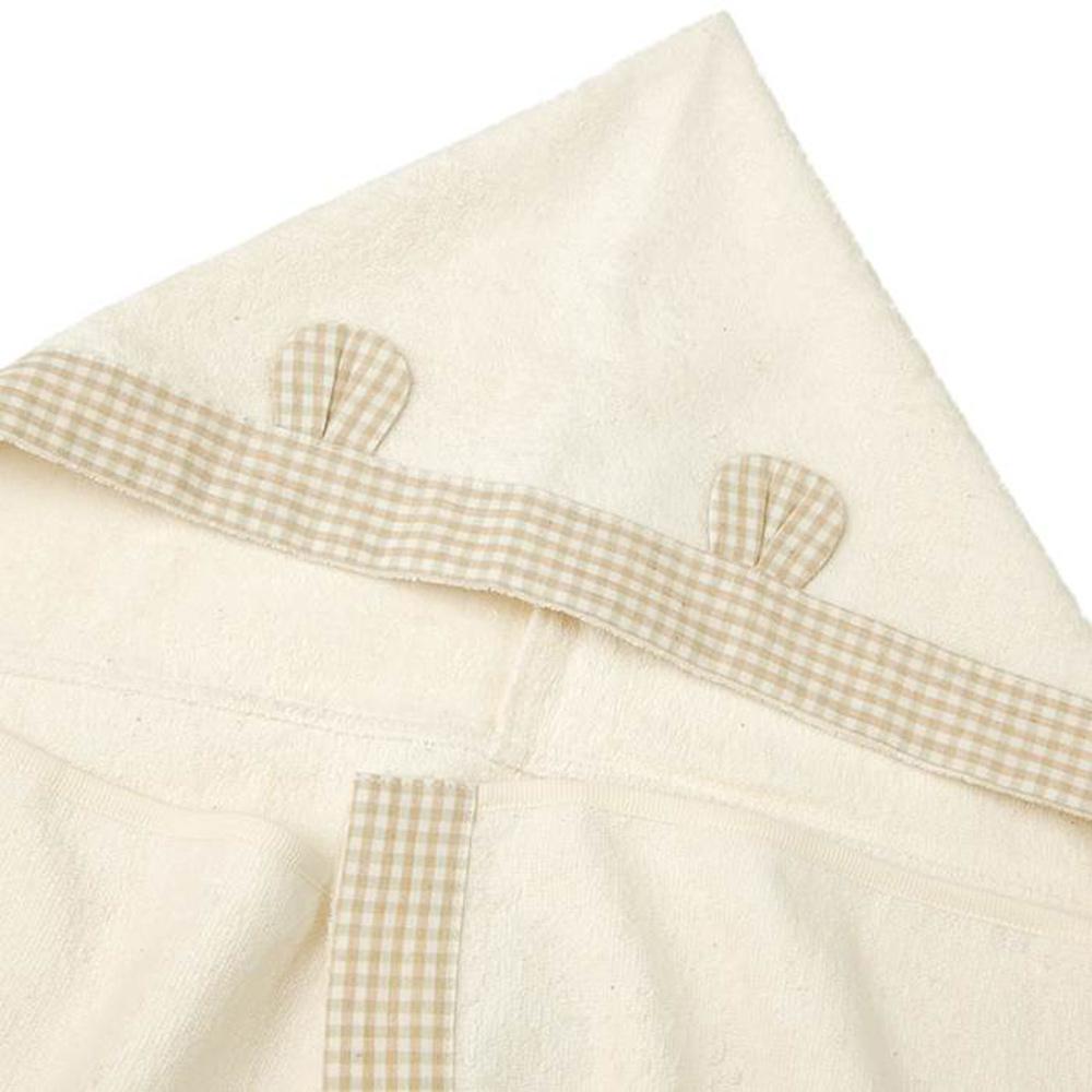 愛情設計 オーガニックコットン フード付タオル