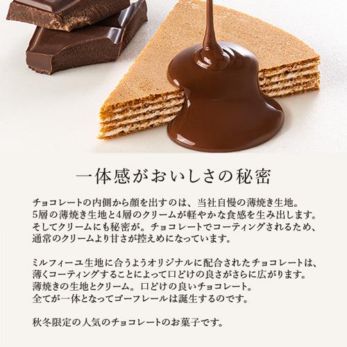 【ミルフィーユショコラ】ゴーフレールG21BN 18個