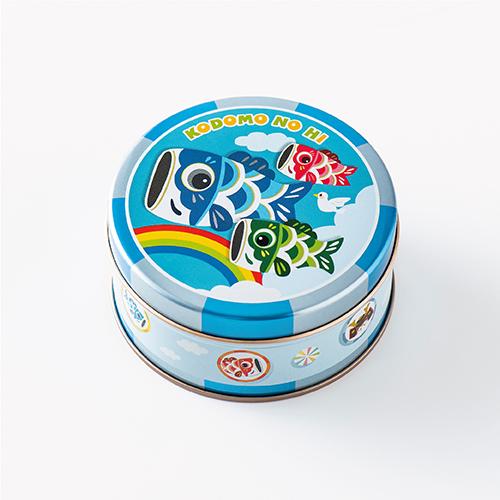 子供の日 ミニゴーフル ブルー  −こいのぼりをデザインしたミニゴーフル