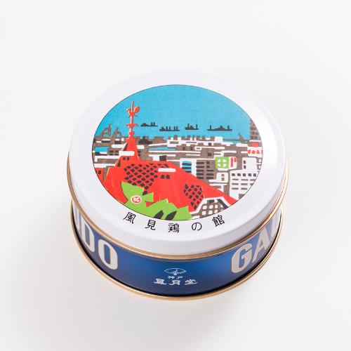 神戸六景ミニゴーフル 風見鶏の館  −版画家 川西祐三郎氏が描いた神戸の風景をデザインしたミニゴーフル