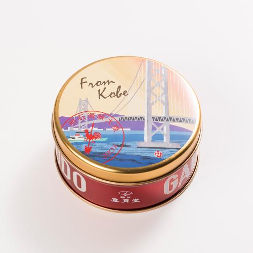 明石海峡大橋 ミニゴーフル  −版画家 川西祐三郎氏が描いた神戸の風景をデザインしたミニゴーフル