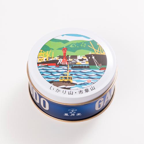 神戸六景ミニゴーフル 2入  −版画家 川西祐三郎氏が描いた神戸の風景をデザインしたミニゴーフル